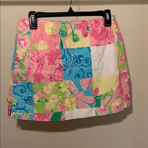 Multi patterned mini skirt by Lily Pulitzer